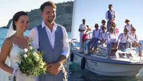 Detaily ze svatby syna Karla Vágnera Pepy: Ženich k nevěstě připlul lodí!