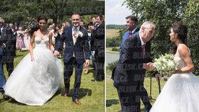 Svatba hradního protokoláře Kruliše: Zeman přiletěl vrtulníkem!