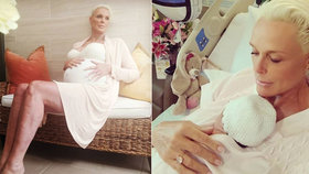 Rudá Sonja Brigitte Nielsen (54) ukázala první foto dcerky