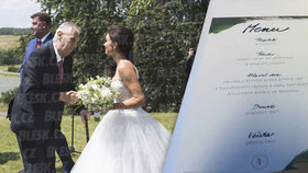 Zeman na svatbě Kruliše: Jídlo mu ochutnávala ochranka, Ivanu tam pak nechal a zmizel