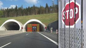 V tunelu hoří! Speciální lamelová zeď zastaví auta, aby se nepřipletla k nehodě