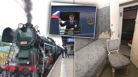 Vyhrazeno prezidentům: Vlak, který vozil Masaryka i Františka Ferdinanda, vyjel na letní túru po Česku