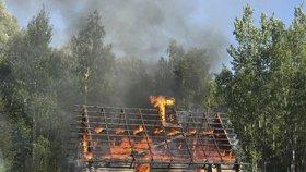Češka se chtěla na Slovensku ohřát. Chata lehla popelem. Škoda dosáhla 100 tisíc