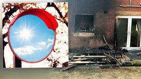 Pozor na zrcadla a sklo: Paprsek slunce se odrazil od skleněného stolku a způsobil požár domu!