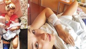 Znehybněná manželka Kluse: Stíhá kojit dceru a v druhé ruce chovat novorozeně!