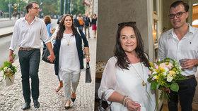 Gregorová s Koptíkem zase jako hrdličky: Kytička, cigárko a romantika!
