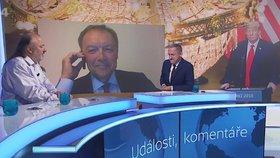 Drsná hádka v ČT o Trumpa: Pán s koňským ohonem lže, neustál profesor Klausova Jakla