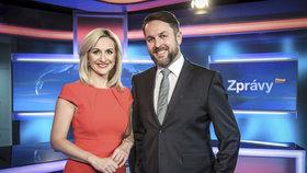 Moderátorská dvojice Hauptvogel a Kašparovská končí ve zprávách na Primě