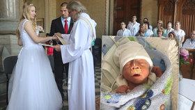 Takovou svatbu ještě svět neviděl: Lucie se vdala tři hodiny po porodu!