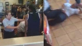 Ženská rvačka mezi hranolky! Z McDonald's se stává boxerský ring
