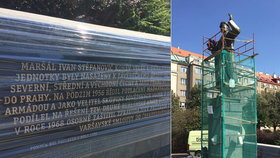 Na pomníku maršála Koněva přibyly informační tabule: Zůstala tam ruskou ambasádou kritizovaná věta o invazi?