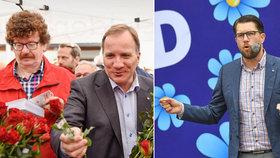 """Švédského premiéra asi """"vykoupe"""" migrační vlna. Ve volbách posilují jeho kritici"""