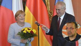 """""""Ta baba zešílela."""" Merkelovou sepsul Foldyna. Zeman ví, kdy za kancléřkou poletí"""