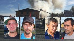 Slzy, šok, zoufalství: Lidé před ohněm na ubytovně v Plzni skákali z okna, shořelo jim vše