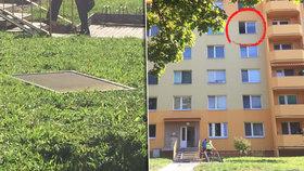 Chlapeček (3) se opřel do síťky proti hmyzu a vypadl ze 4. patra paneláku! Nepřežil