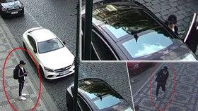 Mladík za bílého dne vykradl luxusní elektromobil. Otevřel si ho klíčem