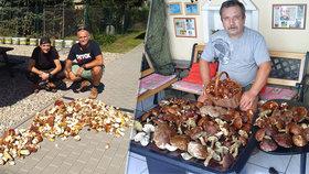 Houbaři odnášejí z lesů plné koše: Rastislav Repík (43) našel za 2 dny 771 kusů
