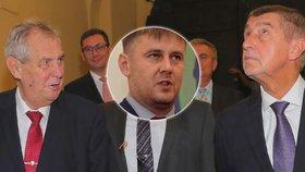 Ministerský adept Petříček už byl na vládě. Zeman čeká, až mu ho Babiš přivede