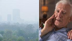 Špinavé ovzduší zvyšuje riziko demence, šokují vědci. A přidali důkazy