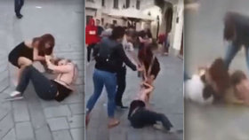 Holky si to rozdaly v centru Bratislavy: Došlo na pěsti i na kopance do hlavy!