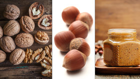 Vlašské a lískové ořechy nenechte veverkám! Vyrobte si domácí oříškové máslo!