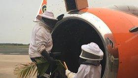 Do motoru letadla vlétl roj včel. Zasahovat na letišti musel tým včelařů