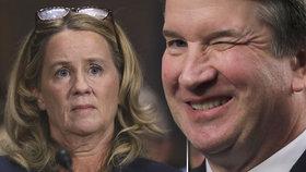 Byla na pokraji slz. Údajná sexuální oběť Trumpova muže promluvila v senátu. Oči zvlhly i obviněnému