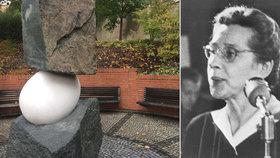 Nový pomník v parku Ztracenka: Věnovali ho Miladě Horákové a dalším obětem totalitních režimů