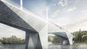 Nový most přes Vltavu spojí Smíchov a Dvorce: Vyjde na miliardu, odkazuje na kubismus