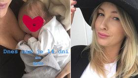 Mesarošová dva týdny po porodu: Přiznala 20 kilo! Ze syna má puzzle