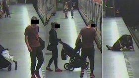 """""""Táta"""" (21) s kočárkem v metru na Jiřáku napadl cestujícího: Byl opilý, hrozí mu tři roky vězení"""