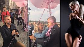 Nejromantičtější žádost o ruku: Na krásnou fotografku Radku na Karlově mostě čekalo obrovské překvapení!