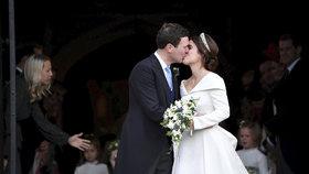 Svatba princezny Eugenie: Pády na schodech i něžnosti mezi svatebčany
