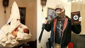 Šílený táta-nácek pojmenoval syna po Hitlerovi, pak s ním pózoval v hábitu Ku-klux-klanu