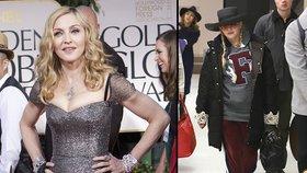 Madonna na letišti pobavila oblečením: Takhle se nosí šedesátnice!