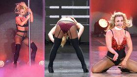 Nestoudné vystoupení Britney Spears: Sexy kostýmky a tanec u tyče!