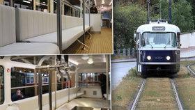 Prahu bude na kolejích brázdit modrá kráska. Luxusní tramvaj T3 Coupé nabídne bar i polstrované sedačky