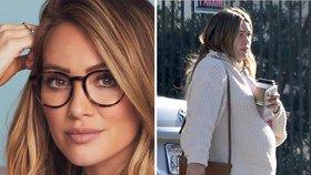 Hilary Duff už se sotva vleče! Už týden přenáší…