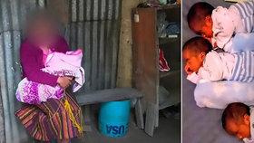 Dívku (13) znásilnil prodavač sladkostí. Porodila trojčata: Teď živoří v chatrči