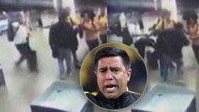 """Trenér nároďáku na letišti zkopal fanouška! """"Bránil jsem se,"""" hájí se"""