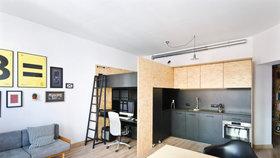 Moderní byt pro život a práci. Vše se vešlo do jedné místnosti!