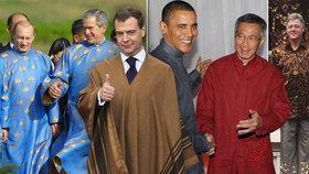 Móda na summitu APEC: Clinton v kožené bundě, Putin v kroji nebo Medveděv v ponču