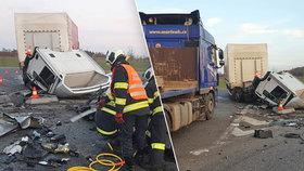 Tragická nehoda na Písecku: Čtyři mrtví po srážce osobního vozu a kamionu