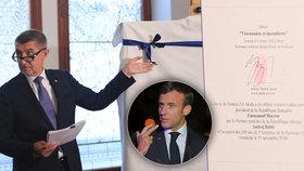 Nečekaný dárek pro Macrona. Babiš mu ho raději předem vyfotil mobilem