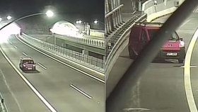 Řidič nebezpečně couval po dálnici D8: Poté nadýchal téměř 3 promile!