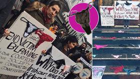 Případ znásilnění přerostl v kalhotkový protest. Prádlo ukazují i Slovenky