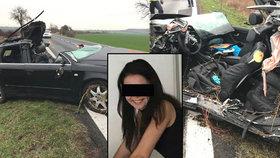 Při nehodě u Poděbrad vyhasly 3 životy: V Audi smrti seděla i motorkářka Petra!