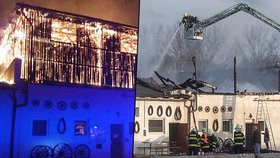 Ničivý požár zasáhl stáje Apolenka u Pardubic. Nacházelo se tam 40 koní. Zásobárna slámy skončila v troskách.