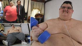 Nejtěžší člověk planety se dal na hubnutí: Shodil 170 kilo. Jak vypadá dnes?