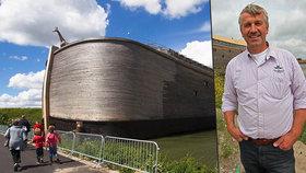 Replika Noemovy archy v životní velikosti popluje do Izraele. Váží 2 500 tun